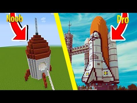 NOOB VS PRO SPACESHIP CHALLENGE - Minecraft Challenge