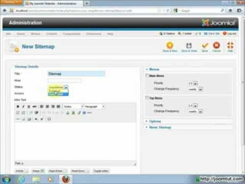 Install And Using Xmap In Joomla! 2.5