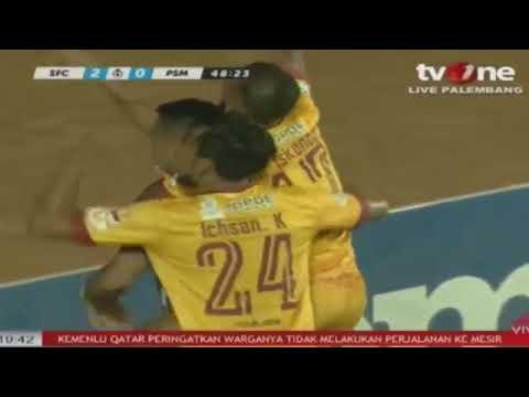 Sriwijaya FC vs PSM Makasar 3 - 4 FT  All Goals & Highlight