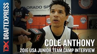 Cole Anthony Interview at USA Basketball Junior National Team Camp