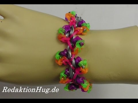 Loom Bands Rainbow Loom Anleitung Deutsch A 36 – Veronika Hug