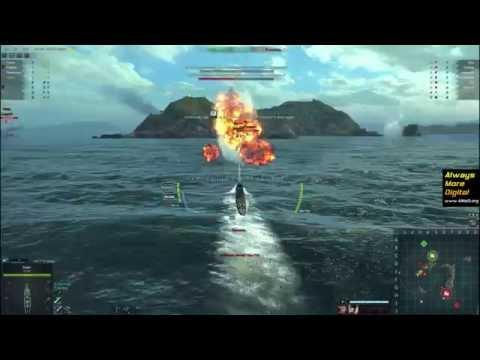 MMO Steel Ocean: первый бой на подводной лодке! Такого нет в WoWs!