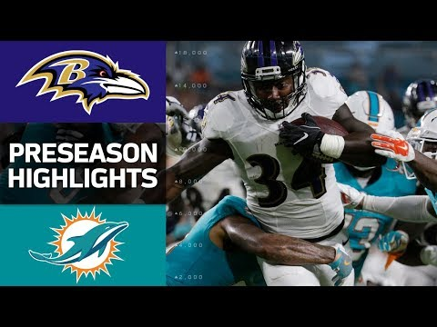 Ravens vs. Dolphins  NFL Preseason Week 2 Game Highlights