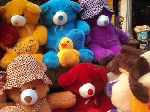 A Big Collection Of Teddies And Soft Toys At Kolkata  New Market Complex.....