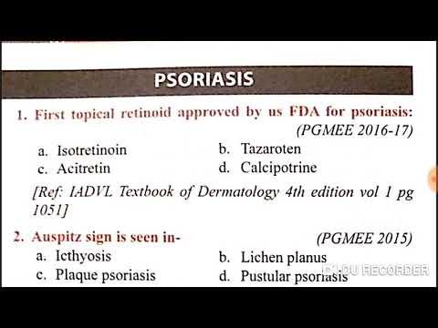 Dermatology part 2 neet pg 2020 exam mcq