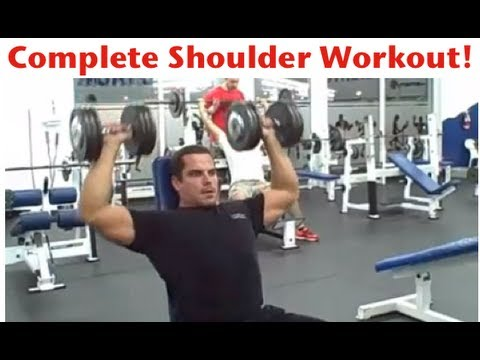 shoulder work out - Download Your FREE 12 Week Workout Program at: http://www.leehayward.com/12-week-workout-program Download Your FREE Bodybuilding Nutrition Guide & Muscle Bui...