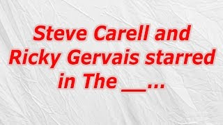 Steve Carell and Ricky Gervais starred in The answer ► FULL CodyCross Cheat List: http://oozegames.com/codycross-answers/