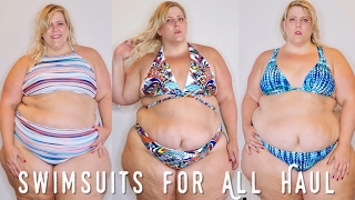 Swimsuits For All Plus Size Bikini Haul  Try On