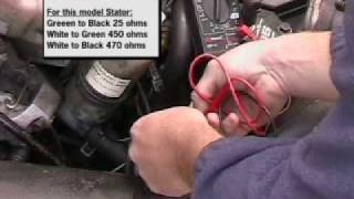 2. Testing a stator in a snowmobile Arctic cat