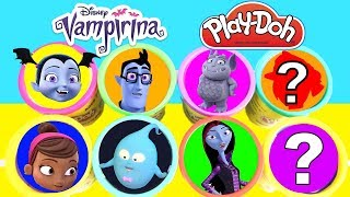 Learn Colors with Vampirina Play Doh Cans and GIANT Candy Surprises | Ellie Sparkles