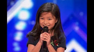 "Video 9-Year-Old Celine Tam Stuns Crowd with ""My Heart Will Go On"" on America's Got Talent 2017 MP3, 3GP, MP4, WEBM, AVI, FLV Mei 2019"