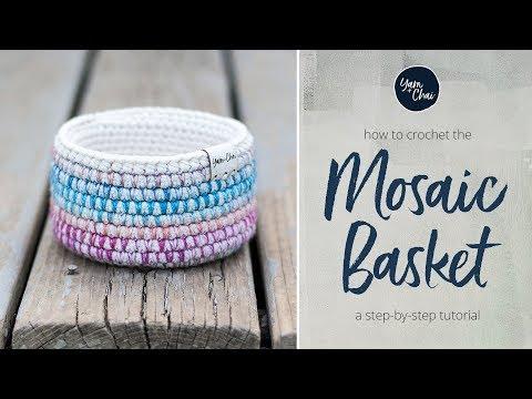 Mosaic Basket Tutorial