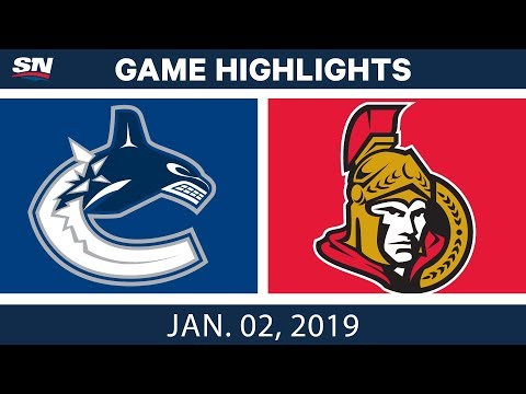 NHL Highlights | Canucks vs. Senators - Jan. 2, 2019