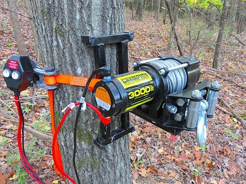 Electric Tree Winch - Portable Deer Winch - Welding