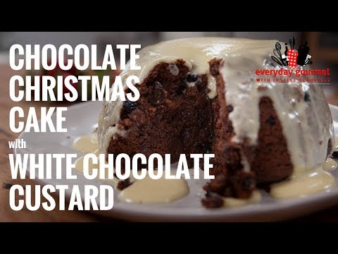 Cadbury Chocolate Christmas Pudding with White Chocolate Custard | Everyday Gourmet S6 EP55