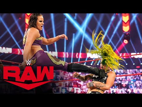 Nia Jax & Shayna Baszler vs. The Riott Squad – WWE Women's Tag Team Title Match: Raw, Oct. 5, 2020