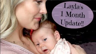 Hi everyone!! I can't believe Layla is already 1 month old!! It has been the best month!! I'm excited to share all of the fun things about Layla this month and for months to come!! Thank you so much for watching!!:)Meet Layla!! Our Birth Story-https://youtu.be/U9M7shYIAIULayla's 2 Week Update- https://youtu.be/mCwPsarmYRsFollow me!Instagram- https://www.instagram.com/heykayli/Facebook: https://Facebook.com/HeyKayliPageTwitter: https://Twitter.com//Hey_KayliSUBSCRIBE to HEYKAYLIhttp://bit.ly/HeyKayliSUBSCRIBE to CASEYLAVEREhttp://bit.ly/CaseyLavereChannelSUBSCRIBE to HUSHINWITHLAVEREhttp://bit.ly/HushinWithLavereSUBSCRIBE to THEMOMSVIEWhttp://bit.ly/TMVChannel