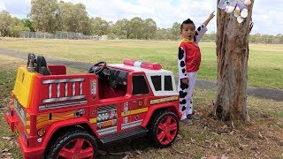Paw Patrol Marshall NEW Fire Engine Ride On Rescue Cali From Tree Ckn Toys