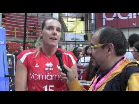 Interviste dopo la semifinale scudetto vinta dalla Unendo Yamamay Busto Arsizio