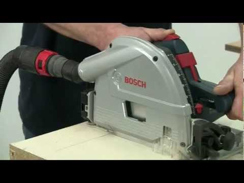 bosch - Alan Holtham tries out the Bosch GKT55CE plunge saw with the guide rail system.