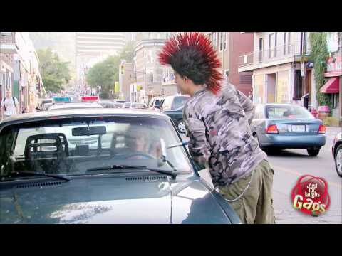 Flying Punk Squeegee Prank