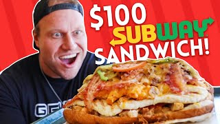 Video $100 Subway Sandwich CHALLENGE! MP3, 3GP, MP4, WEBM, AVI, FLV Agustus 2018