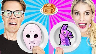 Video Game Master Pancake Art Challenge Battle Royale to Stop GMI (Roblox and Fortnite) Matt and Rebecca MP3, 3GP, MP4, WEBM, AVI, FLV Agustus 2019