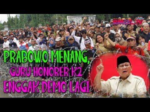 Prabowo Menang, Guru Honorer K2 Enggak Demo Lagi