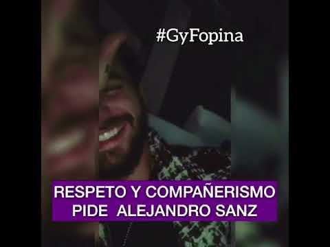 Alejandro Sanz le responde a Maluma por una aparente burla (VIDEO)