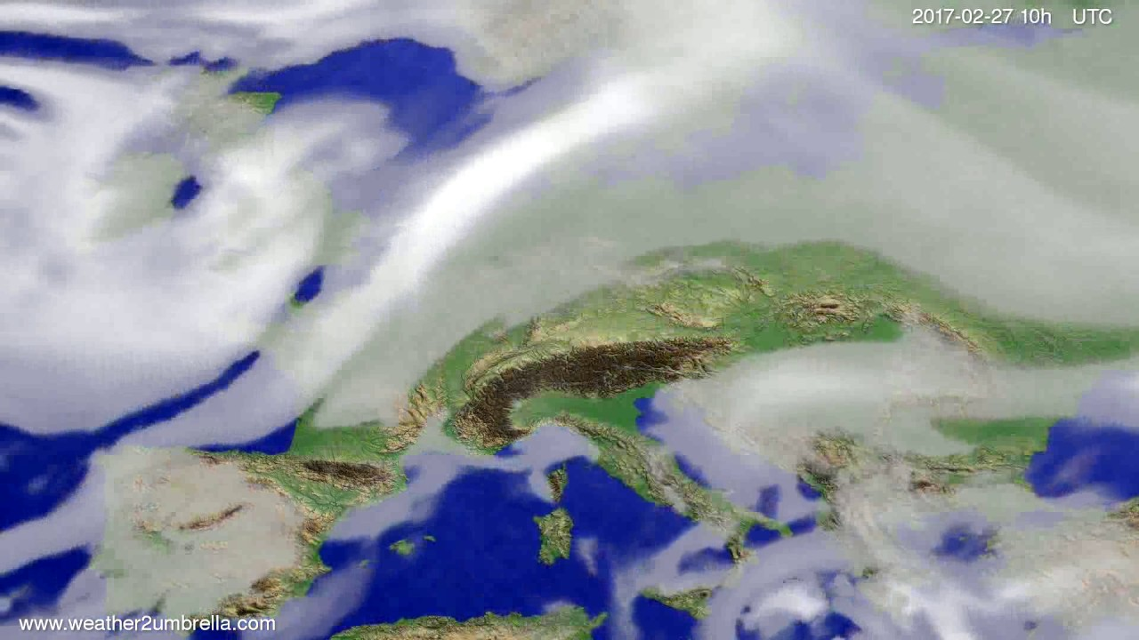 Cloud forecast Europe 2017-02-25