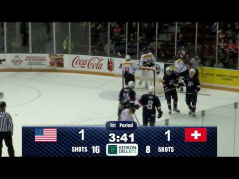 2017 WJC: Highlights from Pre-Tournament Game USA vs. SUI