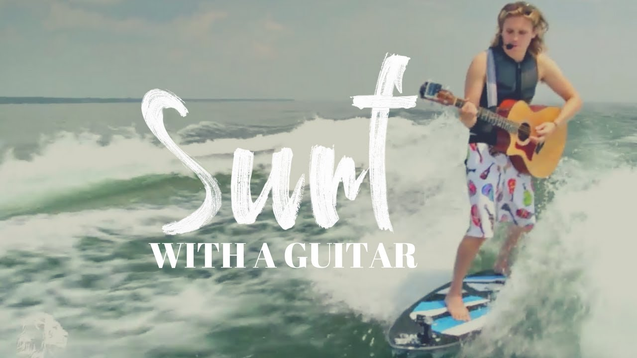 Surfing, Singing and Playing Guitar all at once! [Official Video]