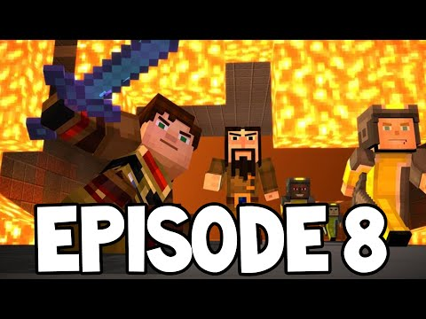 "Minecraft Story Mode - EPISODE 8 - NEW SCENES! ""A Journeys End"""