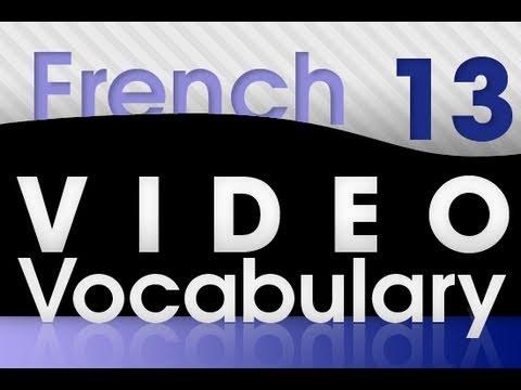 Französisch lernen - Video Vokabeln #13