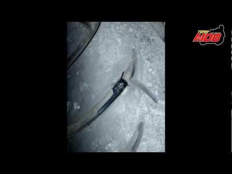 comment poser une meche sur un pneu