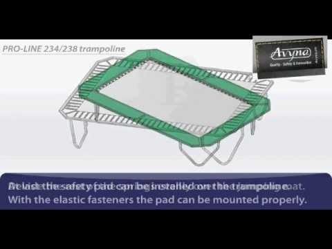 AVYNA PRO-LINE 234 Combi-Pack Rechthoek 3m40 x 2m40 | Montage trampoline