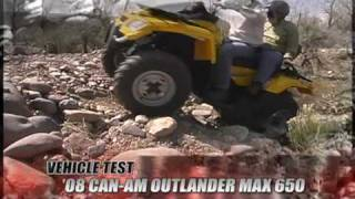9. ATV Television Test - 2008 Can Am Outlander Max 650