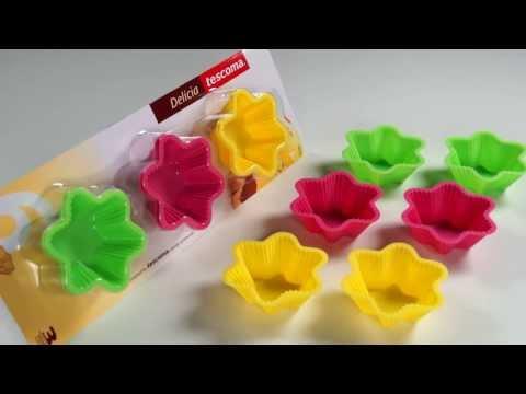 Видео Силиконовые формочки Tescoma Корзинки силиконовые DELICIA, 6 шт., цветы Tescoma 630650
