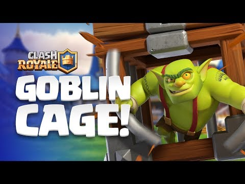 Clash Royale: NEW CARD REVEAL!  Goblin Cage enters the Arena!