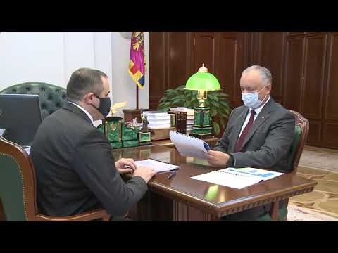 Глава государства провел встречу с Председателем Правления АО «Молдовагаз»