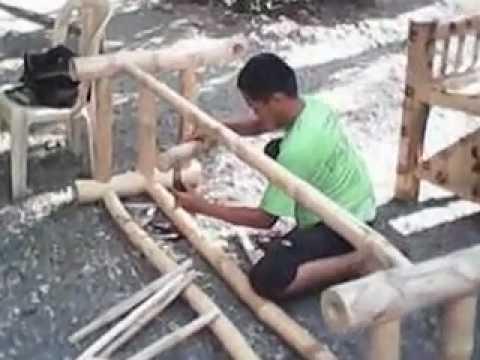 making bamboo furniture in ilocos norte phil building bamboo furniture