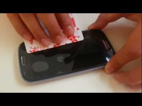 comment appliquer screen protector