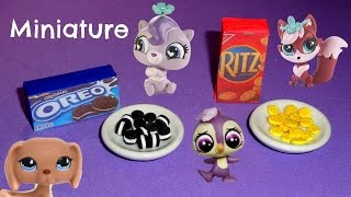 Miniature Oreos & Miniature Ritz Crackers - LPS Crafts & Doll Crafts - YouTube