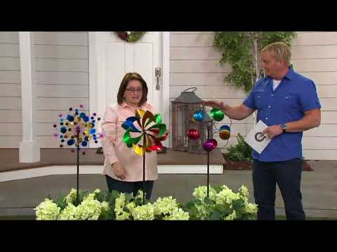 "Plow & Hearth 48"" Midi Metal Garden Wind Spinner on QVC"