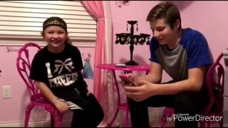 Lyric prank on my cheer coach with Landon not bad with a cold katie betzing cousin Landen