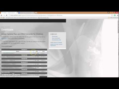 How to find and download Adobe DNG