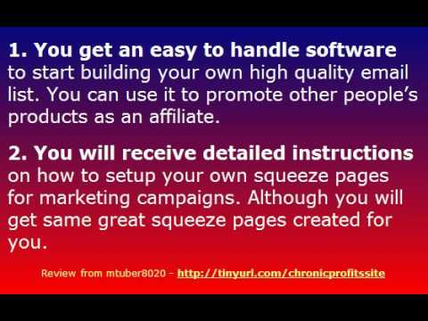 Video: Chronic Profits Review – discover a System for Listbuilding on Autopilot