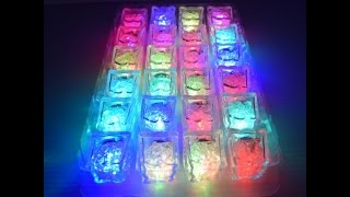 LED Light up Freezable - Multicolor Ice Cubes Tray (24pc)https://eternityledglow.com/product/led-light-freezable-ice-cubes/-Shipped From USA ( Seattle Wa )– Delivery 2-5 Business Days-LED Light up Multicolor Ice Cubes tray (24pc)-100% Waterproof LED Ice Cubes with 8 different color modes-Can be used as a real Ice cube, the LED light up Ice cubes has a gel inside that can be freeze and make your drink cold-Each Ice cube is multicolor and has On/Off button in the Bottom with 8 different color modes: red, blue, green, purple, azure, yellow, white, and automatically color rotating-Made from high quality clear acrylic strong plastic and have LED light inside for beautiful illuminating and power savingMake your event for unforgettable and unique it's looking amazing in dark atmosphere and perfect for events, parties, bar, club, Etc.