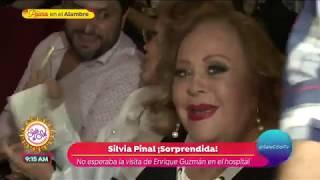 ¡Silvia Pinal contenta por la visita de Enrique Guzmán! | Sale el Sol