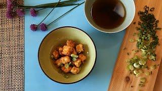 Tofu frito japonês